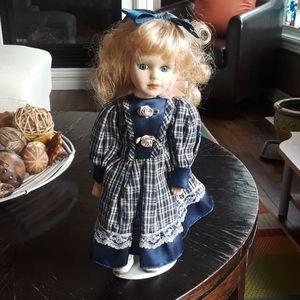 Vintage Scottish girl porcelain doll